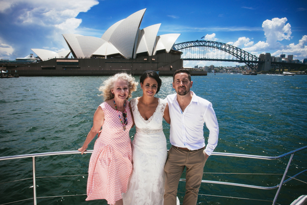 Cruise Sydney Harbour and get married on the water