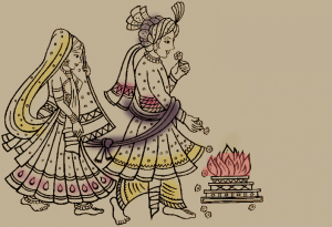 The Seven Steps, a ritual for Marriage ceremonies
